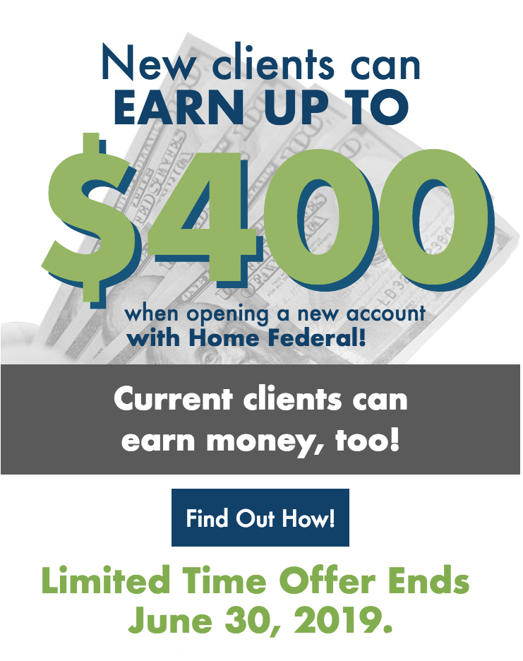 New Clients can earn up to $400